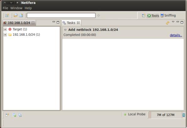 Netifera Initial Screenshot