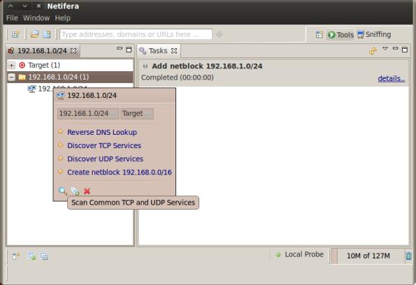 Netifera Second Screenshot