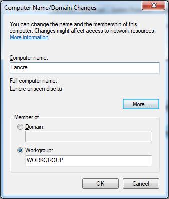 Screenshot- Computer Name Domain Name Changes