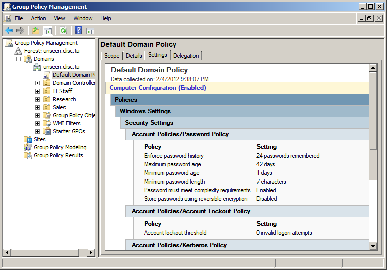 how to delete group policy object in server 2012