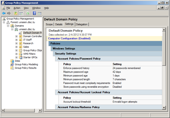 Screenshot- Group Policy Management