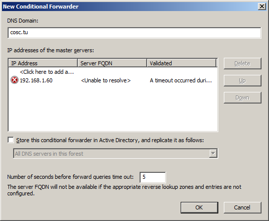 Screenshot- New Conditional Forwarder