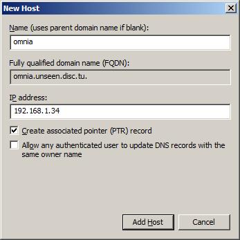 Screenshot- New Host