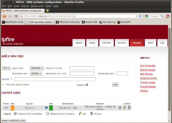 Screenshot-IPFire - DMZ pinhole configuration - Mozilla Firefox
