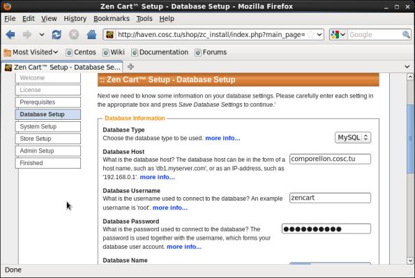 Screenshot-Zen Cart™ Setup - Database Setup - Mozilla Firefox