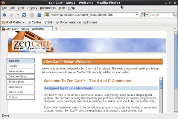 Screenshot-Zen Cart™ Setup - Welcome - Mozilla Firefox