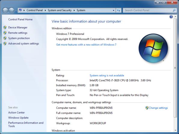 Windows Properties