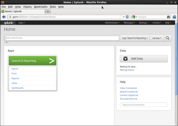 Screenshot-Home {% Splunk - Mozilla Firefox
